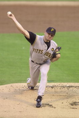 20 Jul 2001: Jason Schmidt #22 of the Pittsburgh Pirates delivers a pitch against the St. Louis Cardinals at Busch Stadium in St. Louis, Missouri. DIGITAL IMAGE. Mandatory Credit: Elsa/ALLSPORT