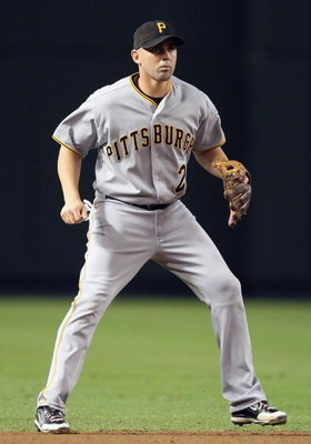 PHOENIX - JULY 26:  Infielder Jack Wilson #2 of the Pittsburgh Pirates in action during the major league baseball game against the Arizona Diamondbacks at Chase Field on July 26, 2009 in Phoenix, Arizona. The Diamondbacks defeated the Pirates 9-0.  (Photo