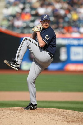 NEW YORK - APRIL 19:  Todd Coffey #60 of the Milwaukee Brewers pitches against the New York Mets at Citi Field on April 19, 2009 in the Flushing neighborhood of the Queens borough of New York City.  (Photo by Nick Laham/Getty Images)