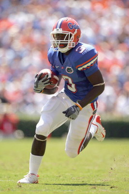 GAINESVILLE, FL - SEPTEMBER 27:  Chris Rainey #3 of the Florida Gators carries the ball during the game against the Mississippi Rebels at Ben Hill Griffin Stadium on September 27, 2008 in Gainesville, Florida.  (Photo by Sam Greenwood/Getty Images)