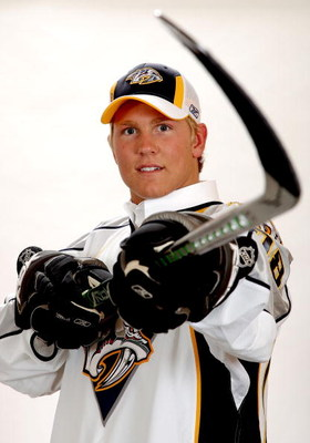 OTTAWA, ON - JUNE 20:  Seventh overall pick, Colin Wilson of the Nashville Predators poses for a portrait after being selected during the 2008 NHL Entry Draft at Scotiabank Place on June 20, 2008 in Ottawa, Ontario, Canada.  (Photo by Andre Ringuette/Gett