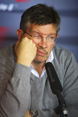 NORTHAMPTON, UNITED KINGDOM - JUNE 19:  Ross Brawn, Team Principal of Brawn GP, attends the Team Owners press conference following practice for the British Formula One Grand Prix at Silverstone on June 19, 2009 in Northampton, England.  (Photo by Paul Gil