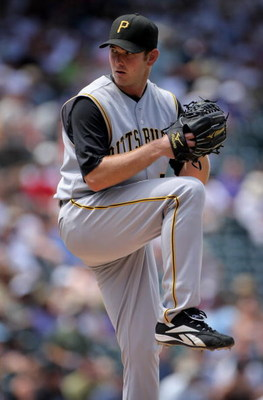 DENVER - JULY 20:  Starting pitcher Zach Duke #57 of the Pittsburgh Pirates delviers against the Colorado Rockies at Coors Field on July 20, 2008 in Denver, Colorado. Duke collected the loss as the Rockies defeated the Pirates 11-3.  (Photo by Doug Pensin