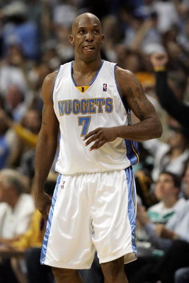 DENVER - MAY 23:  Chauncey Billups #7 of the Denver Nuggets looks on against the Los Angeles Lakers in Game Three of the Western Conference Finals during the 2009 NBA Playoffs at Staples Center on May 23, 2009 in Denver, Colorado. NOTE TO USER: User expre