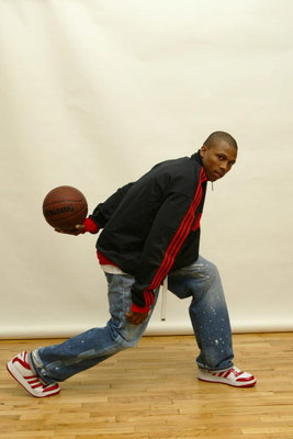 NEW YORK - May 4:  Sebastian Telfair poses for a portrait after a press conference where he announced that he would skip college and enter the NBA draft, and also that he signed a multi-year partnership agreement with adidas on May 4, 2004 at the ESPN Zon