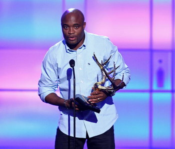 CULVER CITY, CA - MAY 30:  UFC fighter Anderson Silva accepts the 'Most Dangerous Man' award onstage during the taping of Spike TV's 2nd Annual 'Guys Choice' Awards held at Sony Studios on May 30, 2008 in Culver City, California.  The show airs on June 22