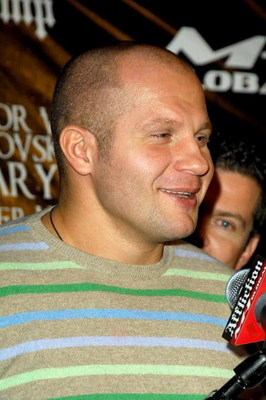 NEW YORK - JANUARY 20:  Heavyweight mixed martial arts champion Fedor 'The Last Emperor' Emelianenko of Russia attends the 'Day of Reckoning' press conference at Trump Tower January 20, 2009 in New York City.  (Photo by Joe Corrigan/Getty Images)