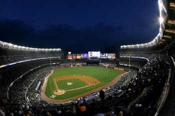 NEW YORK - APRIL 03:  A general view during the New York Yankees game against the Chicago Cubs at Yankee Stadium on April 3, 2009 in the Bronx borough of New York City. Today's exhibition game is the first game to played in the new Yankee Stadium.  (Photo