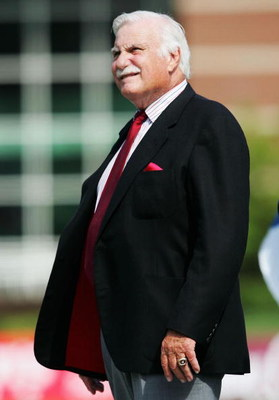 LOUISVILLE, KY - OCTOBER 1:  Howard Schnellenberger the Head Coach of the Florida Atlantic Owls is pictured during the game against the Louisville Cardinals at Papa John's Stadium on October 1, 2005 in Louisville, Kentucky.  (Photo by Andy Lyons/Getty Ima