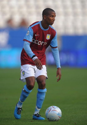 MALAGA, SPAIN - JULY 29:  Ashley Young of Aston Villa in action during the Peace Cup match against Atlante at the Rosaleda stadium on July 29, 2009 in Malaga, Spain.  (Photo by Denis Doyle/Getty Images)