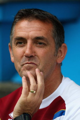 BURNLEY, ENGLAND - AUGUST 01:  Burnley manager Owen Coyle during the Pre Season Friendly match between Burnley and Leeds United at Turf Moor  on August 1, 2009 in Burnley, England.  (Photo by Clive Brunskill/Getty Images)