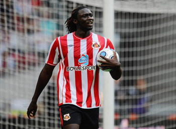 AMSTERDAM, NETHERLANDS - JULY 26:  Sunderland's Kenwyne Jones looks on during the Amsterdam Tournament match between Sunderland and Atletico Madrid at the Amsterdam Arena on July 26, 2009 in Amsterdam, Netherlands.  (Photo by Michael Regan/Getty Images)