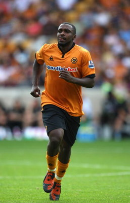 WOLVERHAMPTON, ENGLAND - AUGUST 08:  Sylvan Ebanks-Blake of Wolves in action during the pre season friendly between Wolverhampton Wanderers and Real Valladolid at Molineaux on August 8, 2009 in Wolverhampton, England.  (Photo by Mark Thompson/Getty Images