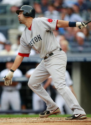 NEW YORK - AUGUST 08:  Mike Lowell #25 of the Boston Red Sox at bat during the game on August 8, 2009 at Yankee Stadium in the Bronx borough of New York City.  (Photo by Jared Wickerham/Getty Images)