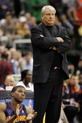 DALLAS - APRIL 25:  Head coach Don Nelson of the Golden State Warriors appears stoic in the waning minutes against the Dallas Mavericks in Game Two of the Western Conference Quarterfinals during the 2007 NBA Playoffs at American Airlines Center on April 2