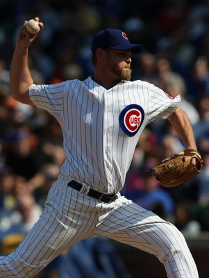 CHICAGO - APRIL 05: Closing pitcher Kerry Wood #34 of the Chicago Cubs delivers the ball in the 9th inning against the Houston Astros on his way to picking up his second save of the season on April 5, 2008 at Wrigley Field in Chicago, Illinois. The Cubs d