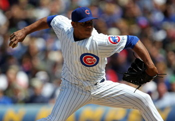 CHICAGO - MAY 16: Carlos Marmol #49 of the Chicago Cubs throws the ball against the Houston Astros on May 16, 2009 at Wrigley Field in Chicago, Illinois. The Cubs defeated the Astros 5-4. (Photo by Jonathan Daniel/Getty Images)