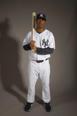 TAMPA, FL - FEBRUARY 21:  Austin Jackson of the New York Yankees poses during Photo Day on February 21, 2008 at Legends Field in Tampa, Florida. (Photo by Nick Laham/Getty Images)