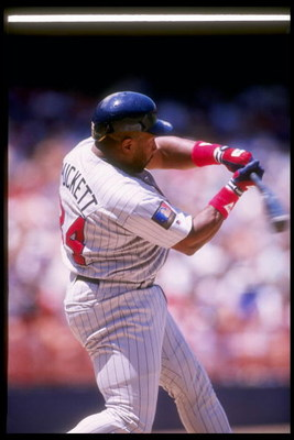 8 Jun 1994: Outfielder Kirby Puckett of the Minnesota Twins at bat during a game against the California Angels at Anaheim Stadium in Anaheim, California.