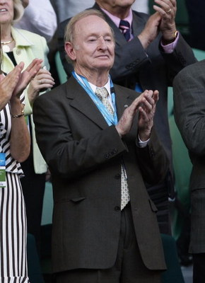 MELBOURNE, AUSTRALIA - FEBRUARY 01:  Former Australian tennis legend Rod Laver attends the men's final match between Rafael Nadal of Spain and Roger Federer of Switzerland during day fourteen of the 2009 Australian Open at Melbourne Park on  February 1, 2