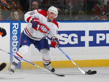 UNIONDALE, NY - APRIL 02:  Andrei Markov #79 of the Montreal Canadiens skates against the New York Islanders on April 2, 2009 at the Nassau Coliseum in Uniondale, New York.  (Photo by Bruce Bennett/Getty Images)