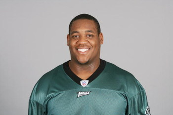 PHILADELPHIA - 2009:  King Dunlap of the Philadelphia Eagles poses for his 2009 NFL headshot at photo day in Philadelphia, Pennsylvania.  (Photo by NFL Photos)