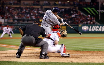 ANAHEIM, CA - AUGUST 10:  Pat Burrell #5 of the Tampa Bay Rays bats against the Los Angeles Angels of Anaheim at Angel Stadium on August 10, 2009 in Anaheim, California.  (Photo by Jeff Gross/Getty Images)
