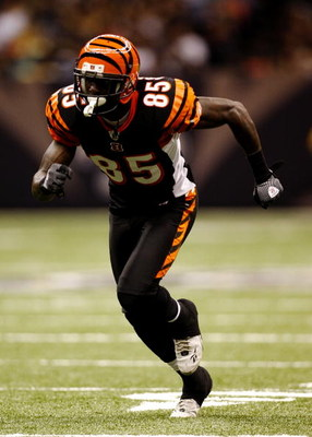 NEW ORLEANS - AUGUST 14:  Wide receiver Chad Ochocinco #85 of  the Cincinnati Bengals runs on the field during the preseason game against the New Orleans Saints on August 14, 2009 at the Superdome in New Orleans, Louisiana. (Photo by Chris Graythen/Getty