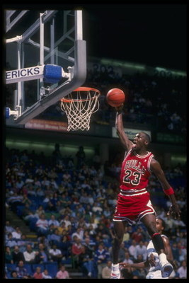 1991-92: Guard Michael Jordan of the Chicago Bulls.