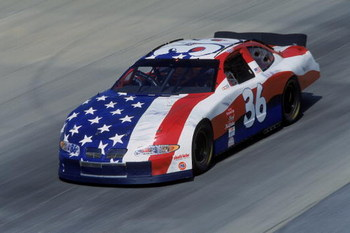 22 Sep 2001:  Ken Schrader who drives the #36 Pontiac Grand Prix for MB2 Motorsports comes down the track during the MBNA Cal Ripken Jr. 400, part of the NASCAR Winston Cup Series at the Dover Downs International Speedway in Dover, Delaware.Mandatory Cred