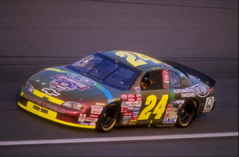 15 May 1998:  Driver Jeff Gordon #24 in action during the Winston at the Charlotte Motor Speedway in Concord, North Carolina. Mandatory Credit: Craig Jones  /Allsport