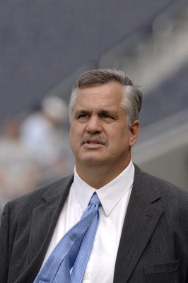 Detroit Lions president Matt Millen before a game between the Chicago Bears and Detroit Lions at Soldier Field in Chicago, Illinois on September 17, 2006.  (Photo by Al Messerschmidt/Getty Images)