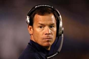 SAN DIEGO - AUGUST 15:  Head coach Jim Mora of the Seattle Seahawks looks on during the game with the San Diego Chargers on August 15, 2009 at Qualcomm Stadium in San Diego, California.   The Seahawks won 20-17.  (Photo by Stephen Dunn/Getty Images)