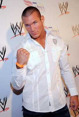 HOLLYWOOD - AUGUST 21:  Wrestler Randy Orton arrives at the WWE's SummerSlam Kickoff Party at H-Wood Club on August 21, 2009 in Hollywood, California.  (Photo by Frazer Harrison/Getty Images)