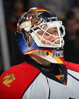 UNIONDALE, NY - DECEMBER 31: Tomas Vokoun #29 of the Florida Panthers tends the net against the New York Islanders on December 31, 2008 at the Nassau Coliseum in Uniondale, New York. (Photo by Bruce Bennett/Getty Images)