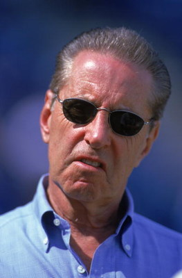 4 Mar 2000: Owner Fred Wilpon of the New York Mets looks on during the Spring Training Game against the Los Angeles Dodgers in Port St. Lucie, Florida. The Mets defeated the Dodgers 7-3.