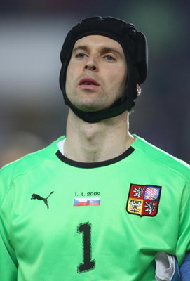 PRAGUE, CZECH REPUBLIC - APRIL 01:  A portrait of Petr Cech of Czech Republic during the FIFA 2010 World Cup qualifier between Czech Republic and Slovakia at the Axa Arena on April 1, 2009  in Prague, Czech Republic.  (Photo by Jamie McDonald/Getty Images
