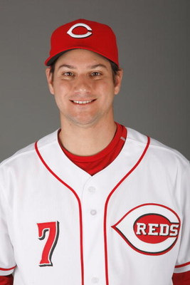 SARASOTA, FL - FEBRUARY 18:  Paul Janish #7 of the Cincinnati Reds poses for a photo during Spring Training Photo day on February 18, 2009 at the Cincinnati Reds training facility in Sarasota, Florida.  (Photo by Chris Graythen/Getty Images)