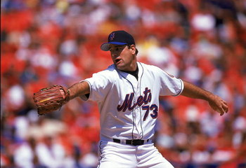 28 Jul 1999:  Pitcher Kenny Rogers #73 of the New York Mets winds up for the pitch during the game against the Pittsburgh Pirates at Shea Stadium in Flushing, New York. The Mets defeated the Pirates 9-2. Mandatory Credit: Ezra O. Shaw  /Allsport