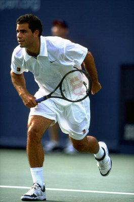 12 Sep 1998:  Pete Sampras of the USA in action at the US Open at Flushing Meadow in New York, America. \ Mandatory Credit: Gary M Prior/Allsport