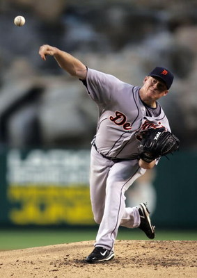 ANAHEIM, CA - MAY 27:  Jeremy Bonderman #38 of the Detroit Tigers pitches against the Los Angeles Angels of Anaheim at Angel Stadium on May 27, 2008 in Anaheim, California.  (Photo by Jeff Gross/Getty Images)