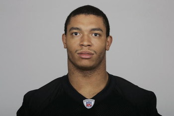 OAKLAND, CA - 2009:  Desmond Bryant of the Oakland Raiders poses for his 2009 NFL headshot at photo day in Oakland, California.  (Photo by NFL Photos)