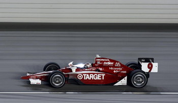 JOLIET, IL- AUGUST 29:  Scott Dixon, driver of the #9 Target Chip Ganassi Dallara Honda, on track during the IRL IndyCar Series PEAK Antifreeze & Motor Oil Indy 300 on August 29, 2009 at the Chicagoland Speedway in Joliet, Illinois.  (Photo By Donald Mira
