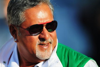 SPA FRANCORCHAMPS, BELGIUM - AUGUST 29:  Force India team owner Dr Vijay Mallya is seen in the paddock following qualifying for the Belgian Grand Prix at the Circuit of Spa Francorchamps on August 29, 2009 in Spa Francorchamps, Belgium.  (Photo by Clive M