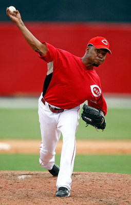 SARASOTA, FL - MARCH 6: Pitcher Marcus McBeth #58 of the Cincinnati Reds makes a pitch against the New York Yankees during the Grapefruit League Spring Training game on March 6, 2008 at Ed Smith Stadium in Sarasota, Florida. (Photo by J. Meric/Getty Image