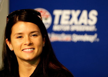 FORT WORTH, TX - JUNE 04:  Danica Patrick, driver of the #7 Boost Mobile Dallara Honda, speaks during a press conference during practice for the IRL IndyCar Series Bombardier Learjet 550k on June 4, 2009 at Texas Motor Speedway in Fort Worth, Texas.  (Pho