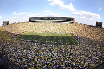 ANN ARBOR, MI - SEPTEMBER 05: General view of Michigan stadium during the third quarter as Western Michigan Broncos plays the Michigan Wolverines on September 5, 2009 at Michigan Stadium in Ann Arbor, Michigan. Michigan won the game 31-7. (Photo by Gregor
