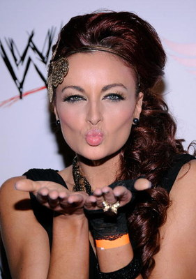 HOLLYWOOD - AUGUST 21:  Wrestler Maria Kanellis arrives at the WWE's SummerSlam Kickoff Party at H-Wood Club on August 21, 2009 in Hollywood, California.  (Photo by Frazer Harrison/Getty Images)