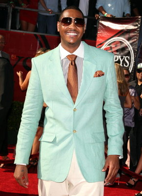 LOS ANGELES, CA - JULY 15:  NBA player Carmelo Anthony arrives at the 2009 ESPY Awards held at Nokia Theatre LA Live on July 15, 2009 in Los Angeles, California. The 17th annual ESPYs will air on Sunday, July 19 at 9PM ET on ESPN.  (Photo by Jason Merritt