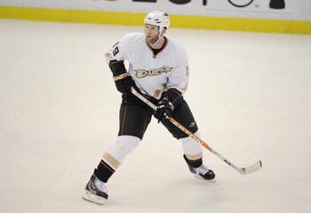 DETROIT, MI - MAY 1:  Ryan Whitney #19 of the Anaheim Ducks skates against the Detroit Red Wings during Game One of the Western Conference Semifinals of the 2009 NHL Stanley Cup Playoffs on May 1, 2009 at Joe Louis Arena in Detroit, Michigan. (Photo by: G